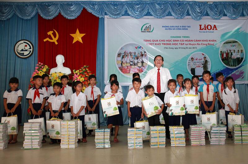 Về với học sinh có hoàn cảnh khó khăn, vượt khó trong học tập tại huyện Gò Công Đông – Tiền Giang