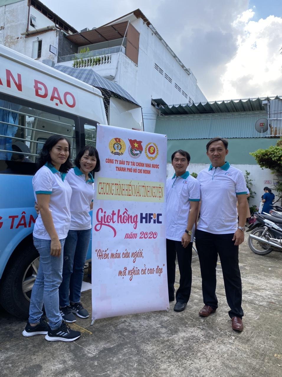 """Đoàn Viên TDH tình nguyện tham gia Hiến Máu """"Giọt Hồng HFIC"""" năm 2020"""