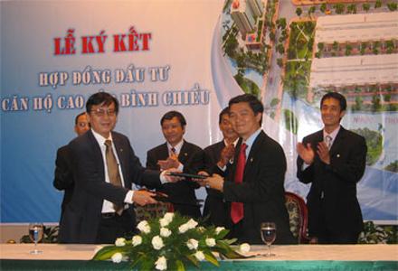 TDH và HBC ký hợp đồng đầu tư căn hộ cao cấp Bình Chiểu