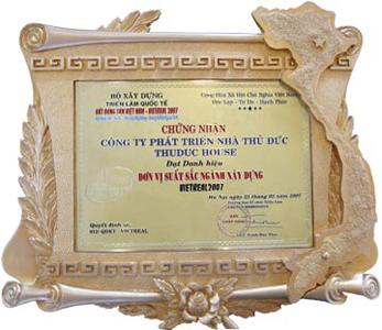 Thuduc House nhận danh hiệu Đơn vị xuất sắc ngành xây dựng Vietreal 2007
