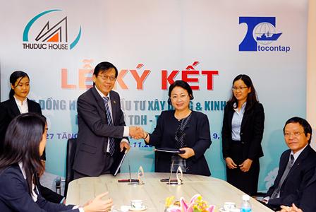 Thuduc House & Cty CPĐT&TMTP Sài Gòn hợp tác đầu tư DA.khu nhà ở TDH-TOCONTAP
