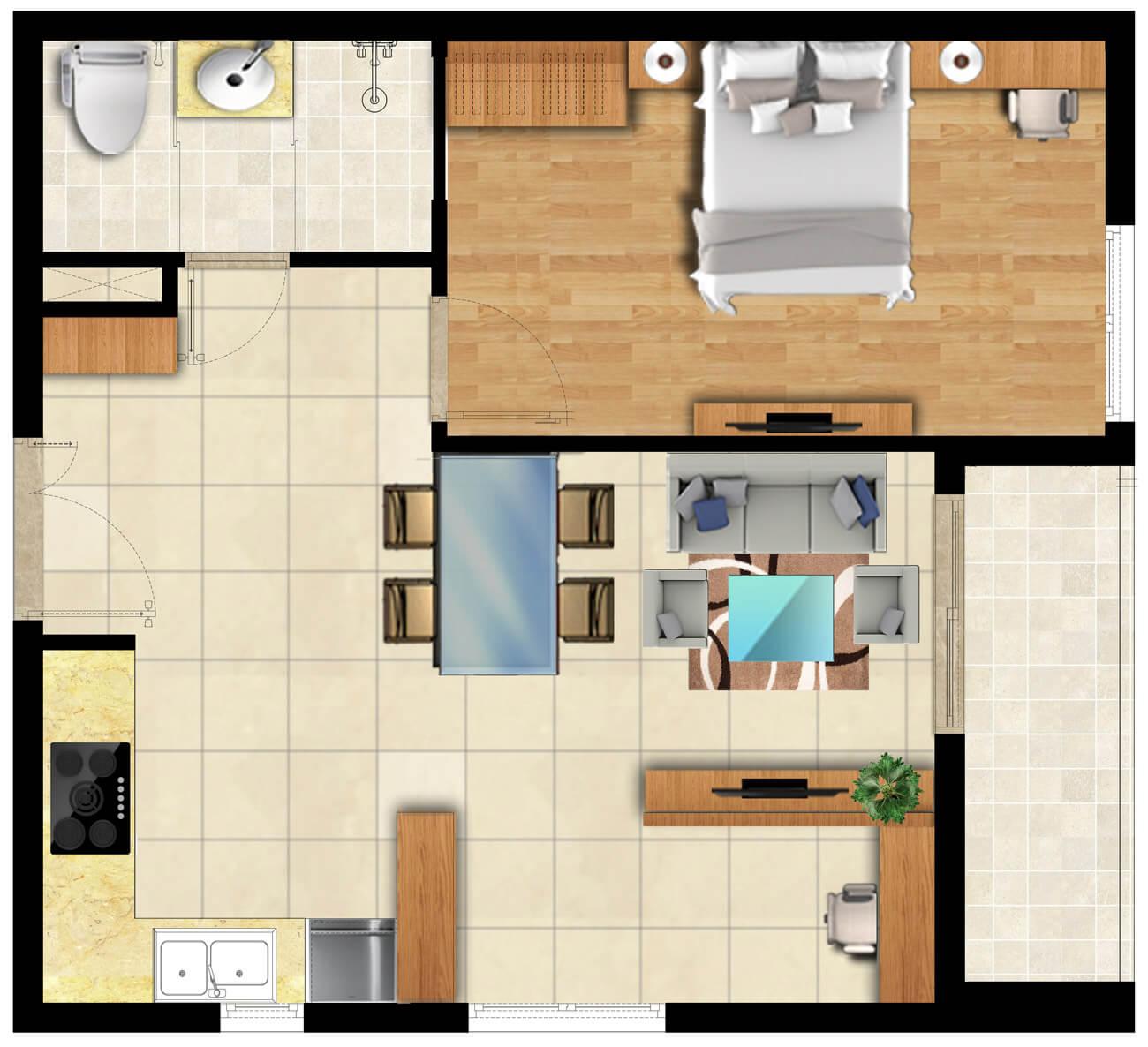 Mẫu căn hộ S-Home Bình Chiểu lô I